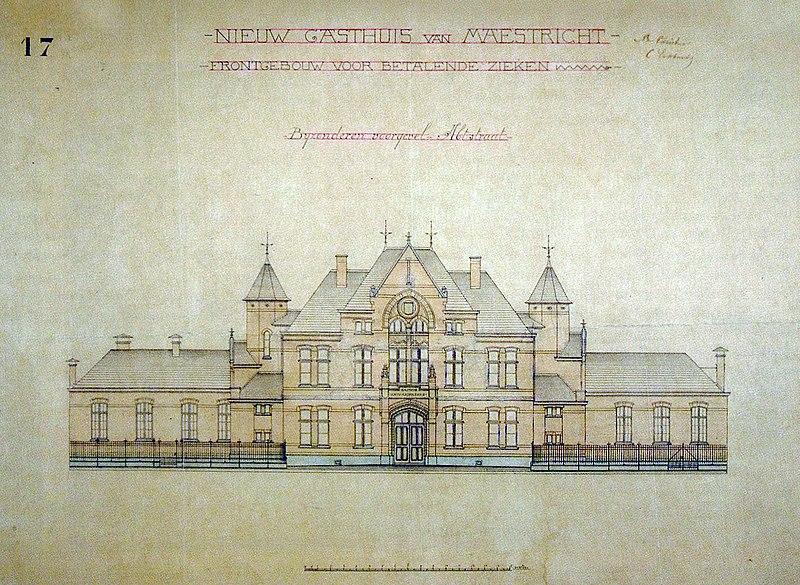 Bestand klassegebouw of elisabethhuis gasthuis calvariënberg
