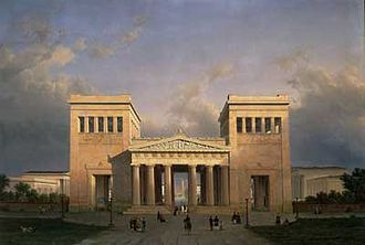 1862 in architecture - Propylaea (Munich), painted by the architect