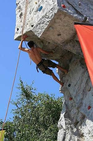 Kletterwand/Climbing wall, Donauinselfest 2007