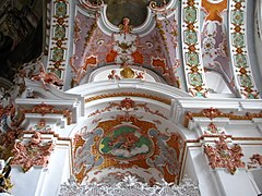 Details of the ceiling paintings