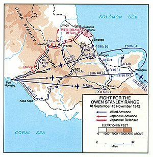 39th Battalion (Australia) - Image: Kokoda Track map