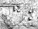 Plan of ground floor of Temple A at سيلينوس (c. 480 BC). The remains of the two spiral stairs between the pronao and the cella are the oldest known to date.