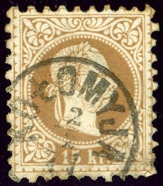 Kolomyia - Austrian stamp cancelled in 1871 (Kingdom of Galicia and Lodomeria)