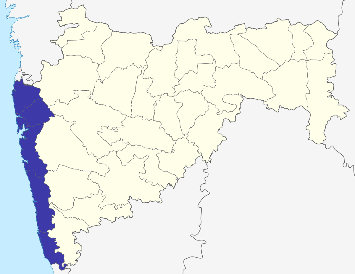 Location of Konkan division in Maharashtra