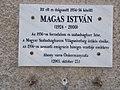 Kossuth Lajos tér 18, Magas István emléktábla, 2017 Abony.jpg