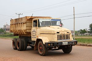 English: KrAZ truck in Savannakhet, Laos