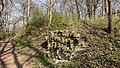 Kranichfeld Nordspitze eines nach Norden vorspringenden Bergrückens dicht südöstlich von Kranichfeld Burganlage, Schleussenburg, Schleißenburg.jpg