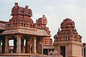 Bala Krishna - View of the temple of Bala Krishna at Hampi