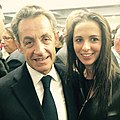 Kristina Luzi et le président Nicolas Sarkozy.jpg