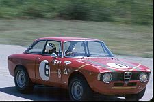 Alfa Romeo GTA during the 1966 Trans-Am Championship, driven by Horst Kwech and Gaston Andrey.