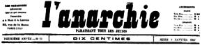 Anarquía nº. 91, enero de 1907.