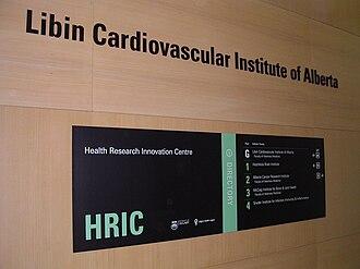 Libin Cardiovascular Institute of Alberta - University of Calgary's HRIC building
