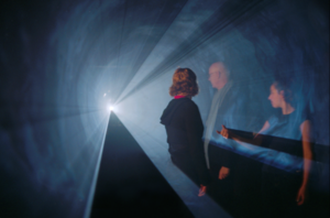"Anthony McCall - Anthony McCall. ""Line Describing a Cone"" (1973). ""Into the Light: The Projected Image in American Art 1966-74"", Whitney Museum of American Art, 2001. Photograph by Hank Graber."