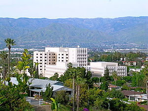 Loma Linda, California - A view of Loma Linda University Medical Center, with the city surrounding it
