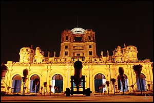 La Martiniere Lucknow - East view of Constantia at Night