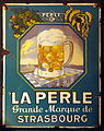 La Perle Grande Marque de Strasbourg enamel advertising sign.JPG