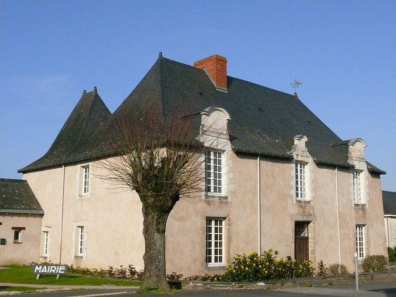The city hall of La Pouëze (Maine-et-Loire, Pays de la Loire, France).