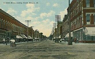 Ottawa, Illinois - La Salle Street c. 1912