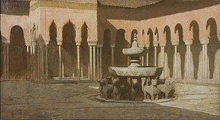 La cour des Lions à l'Alhambra de Grenade