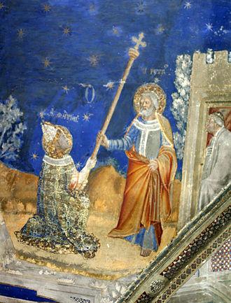 Saint Martial - Saint Martial receives the pastoral staff from Saint Peter.