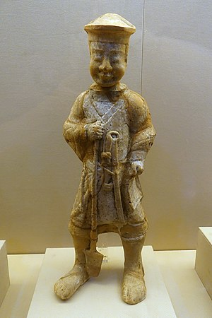 Society and culture of the Han dynasty - Image: Laborer, China, unearthed at Xinjin County, Sichuan, Eastern Han dynasty, 25 220 AD, ceramic Sichuan Provincial Museum Chengdu, China DSC04757