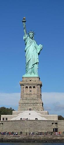 Lady Liberty under a blue sky (cropped).jpg