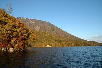Lake Chūzenji - Image: Lake Chūzenji in autumn