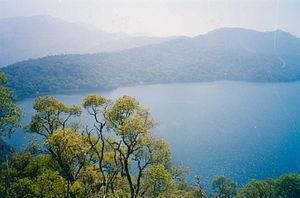 Western High Plateau - Lake Oku is a crater lake on the plateau.