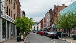 Lake Street in downtown Owego