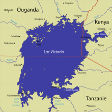 carte du lac victoria - Photo