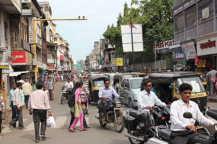 A busy street in Pune, October 2012 Lakshmi road5.JPG