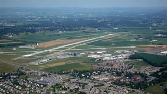 Lancaster Airport (Pennsylvania) - Aerial view