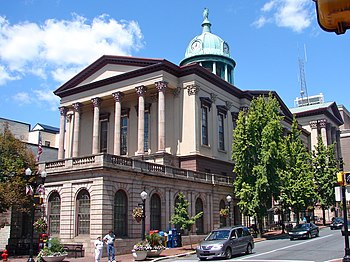 English: Lancaster County Courthouse, in the c...