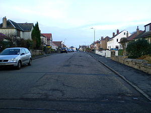 Larbert - A street in the South Broomage area of Larbert with a mix of housing types