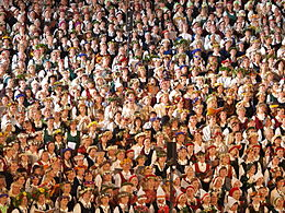 Description de l'image Latvian song festival by Dainis Matisons, 2008.jpg.
