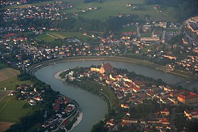 The Salzach in Laufen, Germany