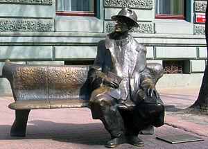 Julian Tuwim - Julian Tuwim Monument by sculptor Wojciech Gryniewicz