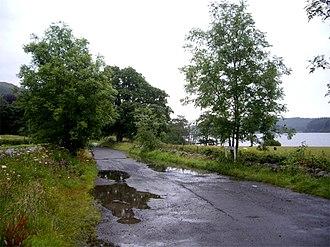 Single-track road - A B-class road near Kinlochard that is single-track