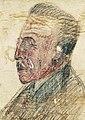 Le maire de Saint-Servan-sur-Mer (1945-1950) Paul Delacour, dessin dû au négociant en tissu servannais Louis Miniac (1887-1952), sur un carton..jpg