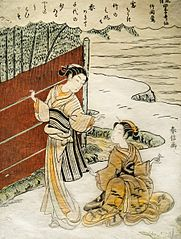 The nightingale in the bamboo ( Takema No. Uguisu )