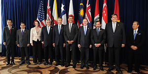 Trans-Pacific Partnership - Image: Leaders of TPP member states