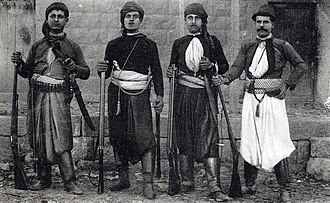 Mount Lebanon - Armed men from Mount Lebanon, late 1800s.