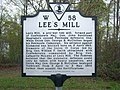 Lee's Mill (Historical Marker W 58) (3445933033).jpg