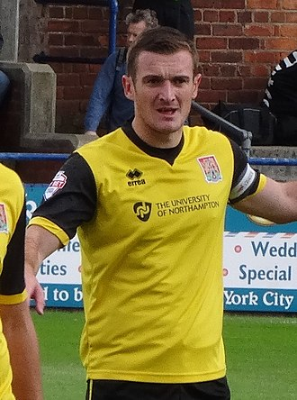 Lee Collins (footballer, born 1988) - Collins playing for Northampton Town in 2014