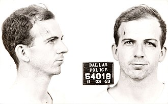 Assassination - Mug shot of Lee Harvey Oswald, the individual responsible for the assassination of United States President John F. Kennedy on November 22, 1963. Oswald himself was assassinated two days later by Jack Ruby, the first such event to receive wide television coverage.