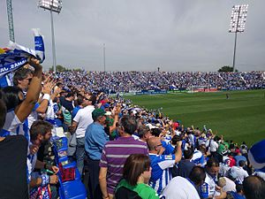 2016–17 La Liga - Leganés supporters celebrating their team's goal against Barcelona.