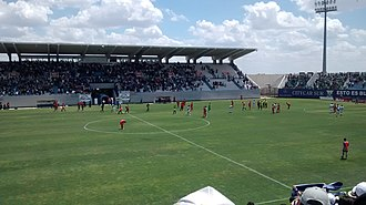 2013–14 Segunda División B - Match between C.D. Leganés and CD Guijuelo at Estadio Municipal de Butarque, second leg of the promotion play-off (1:0).