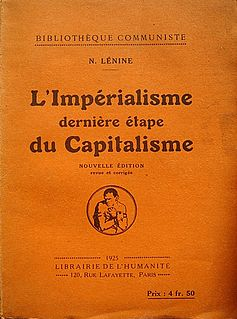 <i>Imperialism, the Highest Stage of Capitalism</i> book by Vladimir Lenin