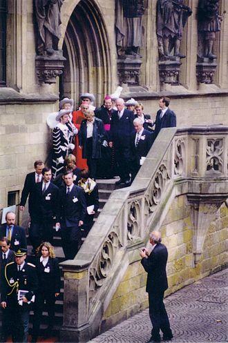 Lennart Meri - Meri in Osnabrück, Germany, in 1998, 350 years after the Peace of Westphalia