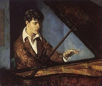 Leon Kroll - Image: Leo Ornstein at the Piano (color) by Leon Kroll
